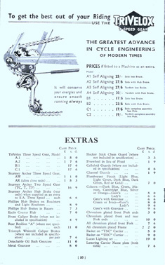 Page showing the TriVelox gear