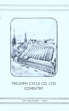 Page showing the Triumph works