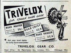1947 Smart & Brown advertisement for the TriVelox gear
