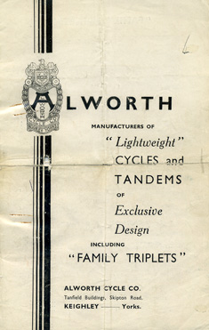 Alworth Cycle Company brochure