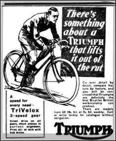 Advert from Coventry Evening Telegraph, 13 April 1934