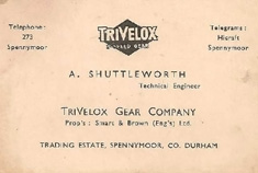 Business card of Alec Shuttleworth