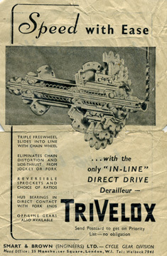 Undated Smart & Brown advertisement for the TriVelox gear