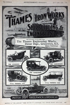 Thames Motor Department Advert
