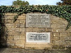Memorial seat to Harry and William Hill at Bracewell